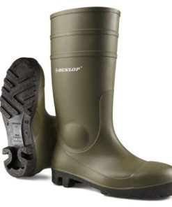 FULL SAFETY WELLINGTONS PVC GREEN