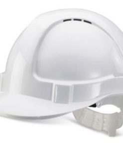 ECONOMY VENTED SAFETY HELMET WHITE