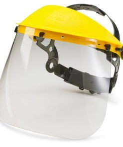7.5 INCH FACE VISOR FOR HEAD GEAR CARRIAGE YELLOW