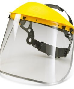 8 INCH METAL EDGE FACE VISOR FOR HEADGEAR