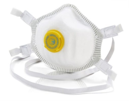 pack of 5 individual FFP3 mask premium valved