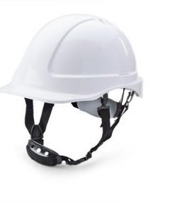 REDUCED PEAK WHITE SAFETY HELMET