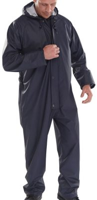 PU COATED POLYESTER COVERALL WITH HOOD