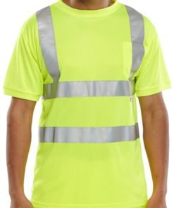 HI VIS T SHIRT CREW NECK YELLOW