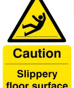 CAUTION SLIPPERY FLOOR SURFACE SIGN (PACK OF 5)