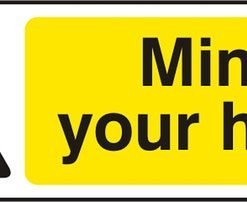 MIND YOUR HEAD SELF ADHESIVE VINYL SIGN (PACK OF 5)