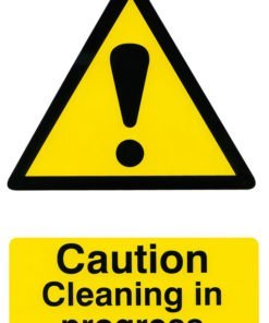 CAUTION CLEANING IN PROGRESS SIGN (PACK OF 5)