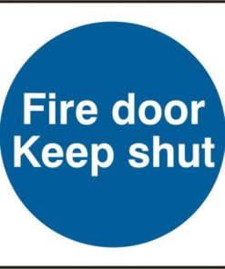 FIRE DOOR KEEP SHUT RIGID PVC SIGN (PACK OF 5)