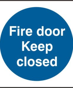 FIRE DOOR KEEP CLOSED SELF ADHESIVE VINYL SIGN (PACK OF 5)