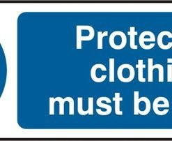 PROTECTIVE CLOTHING SELF ADHESIVE VINYL SIGN (PACK OF 5)
