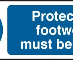 PROTECTIVE FOOTWEAR RIGID PVC SIGN (PACK OF 5)