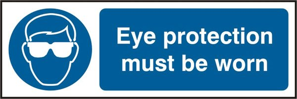 EYE PROTECTION SELF ADHESIVE VINYL SIGN (PACK OF 5)