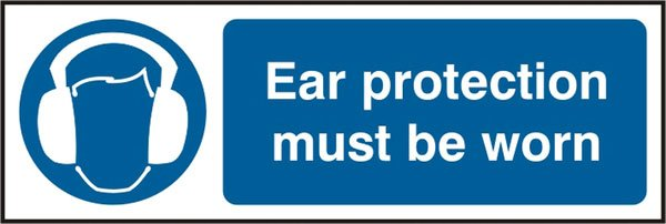 EAR PROTECTION SELF ADHESIVE VINYL SIGN (PACK OF 5)