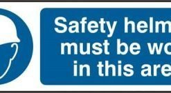 SAFETY HELMETS RIGID PVC SIGN (PACK OF 5)