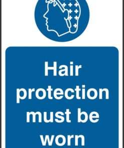 HAIR PROTECTION SELF ADHESIVE VINYL SIGN (PACK OF 5)