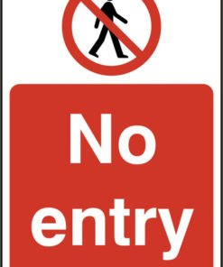 NO ENTRY SELF ADHESIVE VINYL SIGN (PACK OF 5)