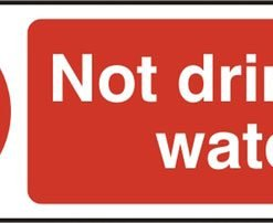NOT DRINKING WATER SELF ADHESIVE SIGN (PACK OF 5)