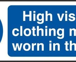 HIVIS CLOTHING SELF ADHESIVE VINYL SIGN (PACK OF 5)