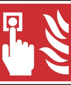 FIRE ALARM CALL POINT SELF ADHESIVE SIGN (PACK OF 5)