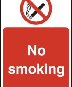 NO SMOKING SELF ADHESIVE SIGN (PACK OF 5)