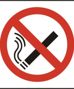 NO SMOKING SYMBOL SELF ADHESIVE VINYL SIGN (PACK OF 5)