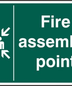 FIRE ASSEMBLY POINT RIGID PVC SIGN (PACK OF 5)