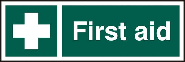 FIRST AID SELF ADHESIVE SIGN (PACK OF 5)