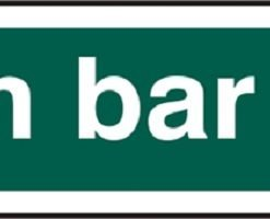 PUSH BAR TO OPEN SELF ADHESIVE SIGN (PACK OF 5)