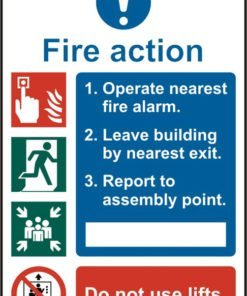 FIRE ACTION PROCEDURE SELF ADHESIVE VINYL (PACK OF 5)