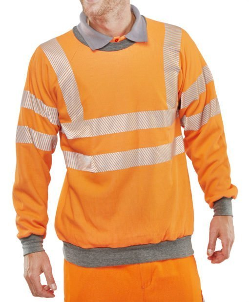 HI VIS FR SWEATSHIRT ORANGE