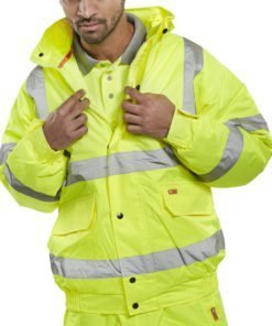 BOMBER JACKET HI VIS - YELLOW