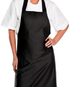 CHEF'S BIB APRON - BLACK