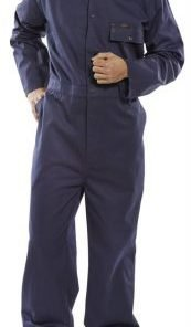 COTTON DRILL BOILERSUIT NAVY