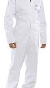 COTTON DRILL BOILERSUIT WHITE