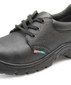 DUAL DENSITY PU STEEL TOE CAP SHOES BLACK