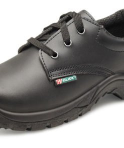 DUAL DENSITY SMOOTH TIE SHOES BLACK