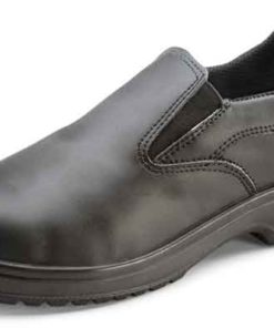LADIES SLIP ON BLACK SHOES