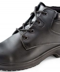 LADIES CHUKKA BLACK BOOTS