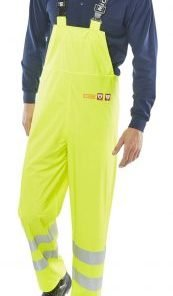 FLAME RETARDANT ANTI STATIC HIVIS YELLOW BIB