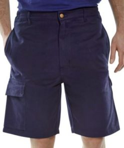 CARGO POCKET SHORTS NAVY BLUE