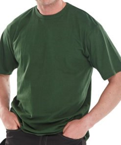 100% HEAVYWEIGHT COTTON T-SHIRT - GREEN