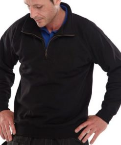 QUARTER ZIP POLYCOTTON SWEATSHIRT