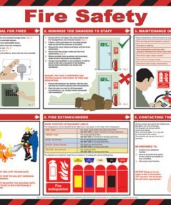 FIRE SAFETY A2 POSTER