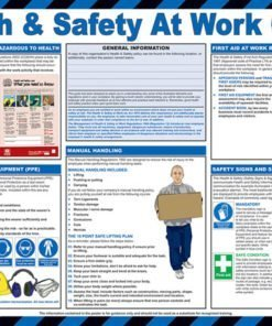 HEALTH AND SAFETY AT WORK A2 POSTER