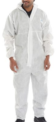 MICROPOROUS TYPE 5/6 DISPOSABLE COVERALL WHITE (BOX OF 20)
