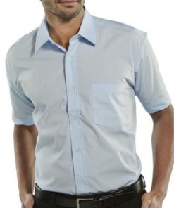 BLUE CLASSIC SHIRT WITH SHORT SLEEVES
