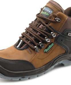 STEEL TOE CAP HIKER BOOTS BROWN