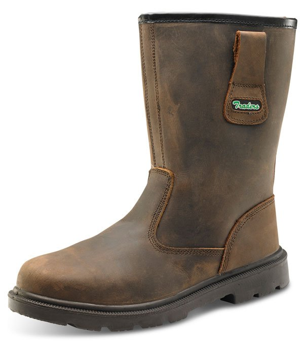bcd43833c2e RUBBER PU BROWN RIGGER BOOTS