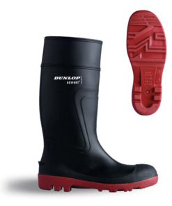 ACIFORT FULL SAFETY BLACK WELLINGTON BOOTS
