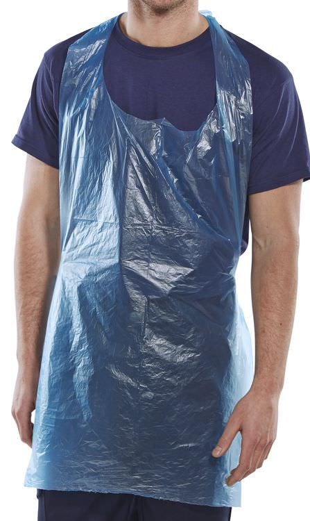 BLUE DISPOSABLE APRONS (PACK OF 1000)